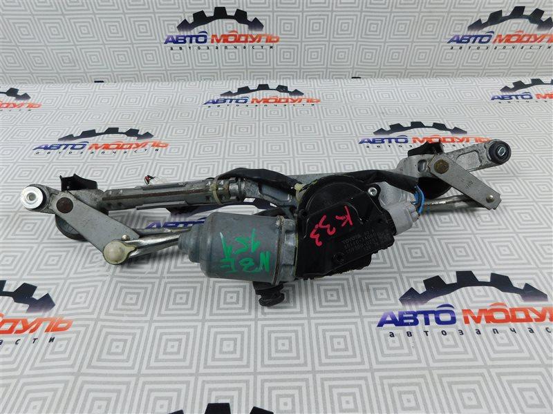 Мотор дворников Toyota Auris NZE151-1052312 1NZ-FE 2008 передний