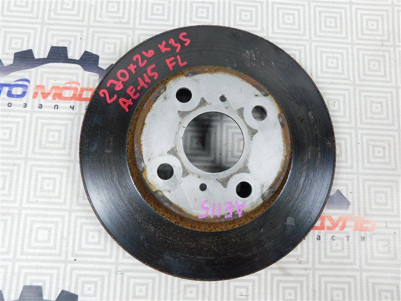Диск тормозной Toyota Sprinter Carib AE115-0063529 7A-FE 2000 передний