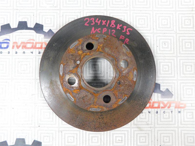 Диск тормозной Toyota Platz NCP12-0041569 1NZ-FE 2000 передний