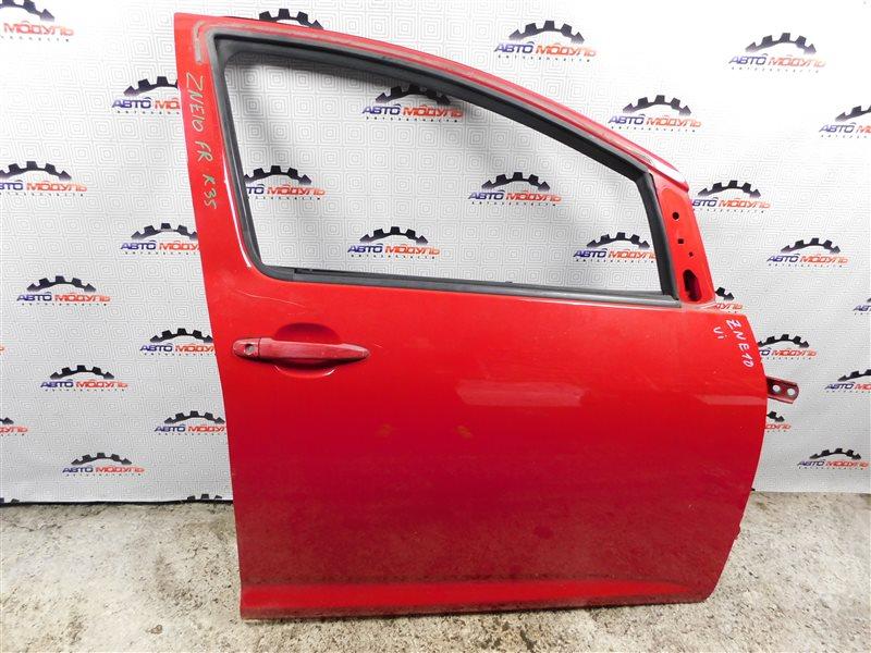 Дверь Toyota Wish ZNE10-0188067 1ZZ-FE 2004 передняя правая