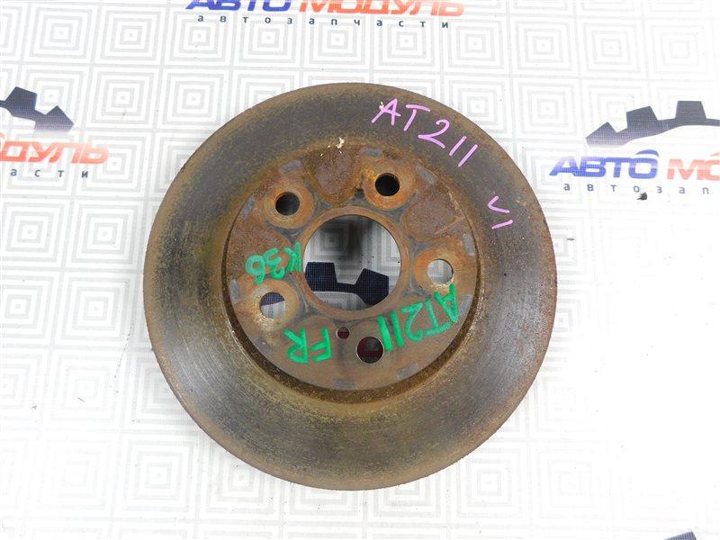 Диск тормозной Toyota Carina AT211-6065783 7A-FE 2000 передний