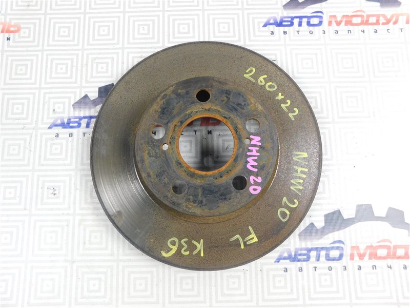 Диск тормозной Toyota Prius NHW20-0067499 1NZ-FXE 2004 передний
