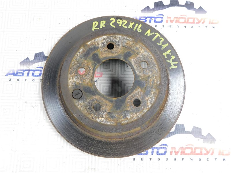 Диск тормозной Nissan X-Trail NT31-000035 MR20-DE 2007 задний