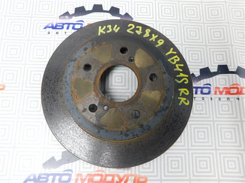 Диск тормозной Suzuki Sx4 YB41S-200024 J20A 2008 задний