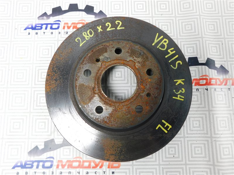 Диск тормозной Suzuki Sx4 YB41S-200024 J20A 2008 передний