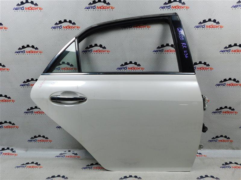 Дверь Toyota Mark X GRX120-0069636 4GR-FSE 2006 задняя правая