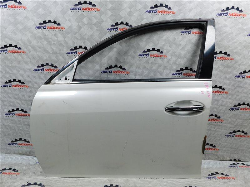 Дверь Toyota Mark X GRX120-0069636 4GR-FSE 2006 передняя левая