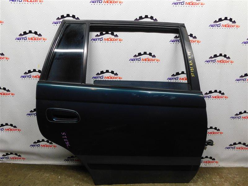 Дверь Toyota Caldina ST191-4039168 3S-FE 1996 задняя правая