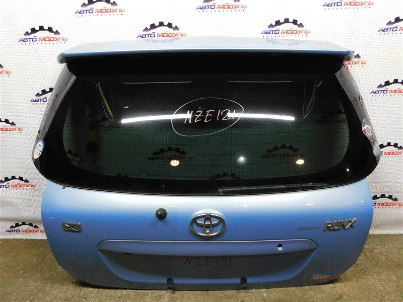 Дверь 5-я Toyota Corolla Runx NZE121-5071169 1NZ-FE 2003 задняя