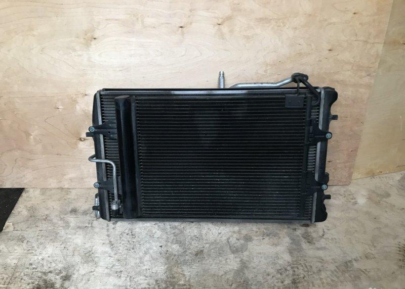 Диффузор с вентилятором Volkswagen Polo 4 до 2009 (б/у)