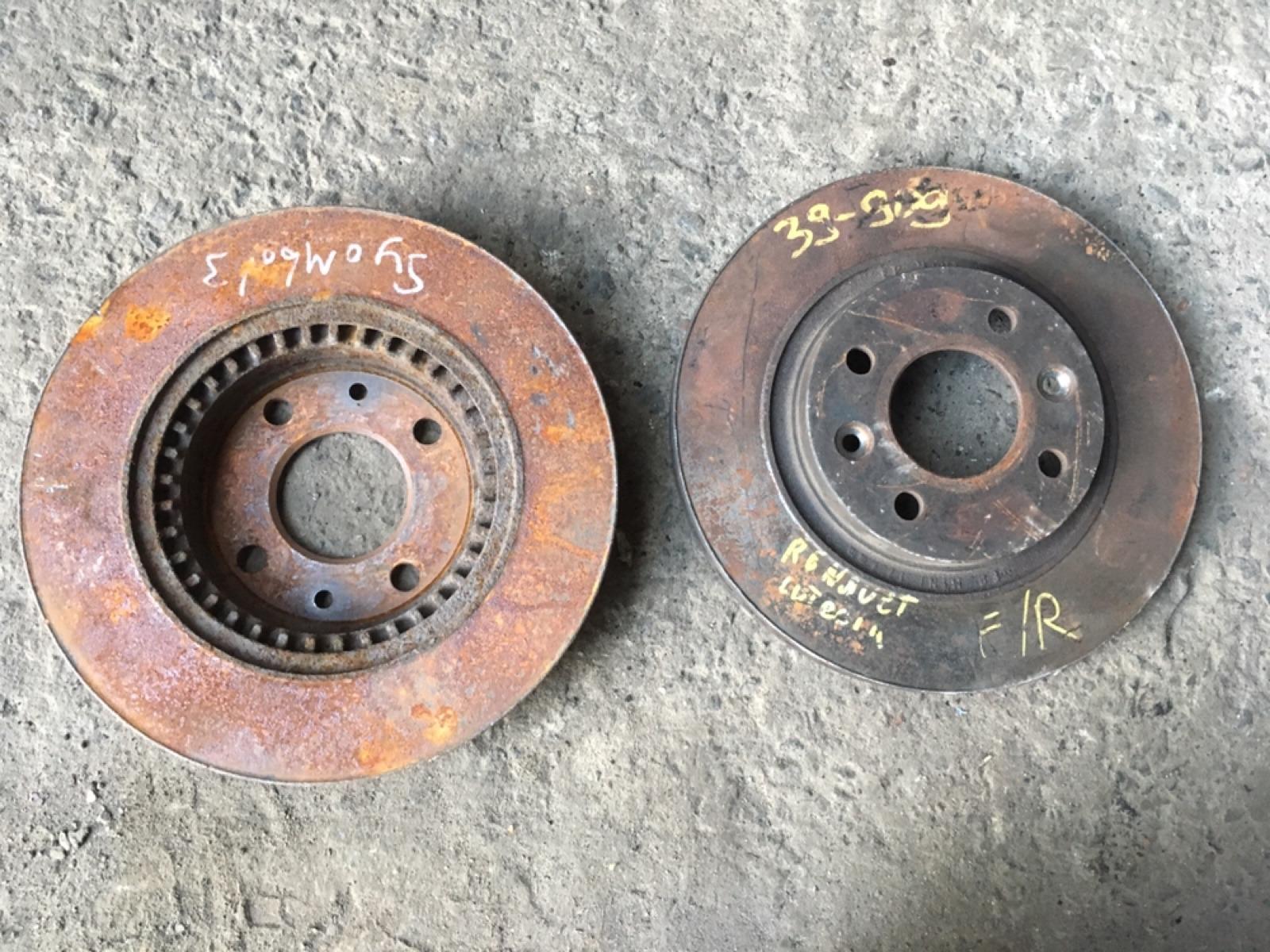 Тормозные диски комплект Renault Symbol 1998 переднее (б/у)