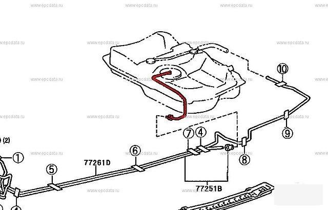 Шланг топливный Toyota Windom MCV21 2MZFE (б/у)