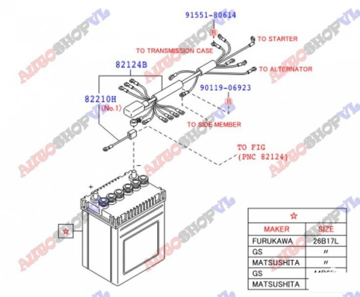 Электропроводка салона Daihatsu Hijet Cargo S321V KFVE (б/у)
