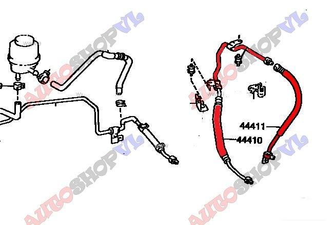 Шланг гидроусилителя Toyota Camry SV40 4SFE (б/у)
