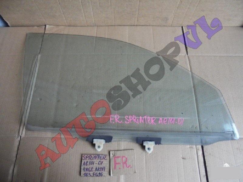 Стекло двери Toyota Sprinter AE101 4AGE переднее правое (б/у)