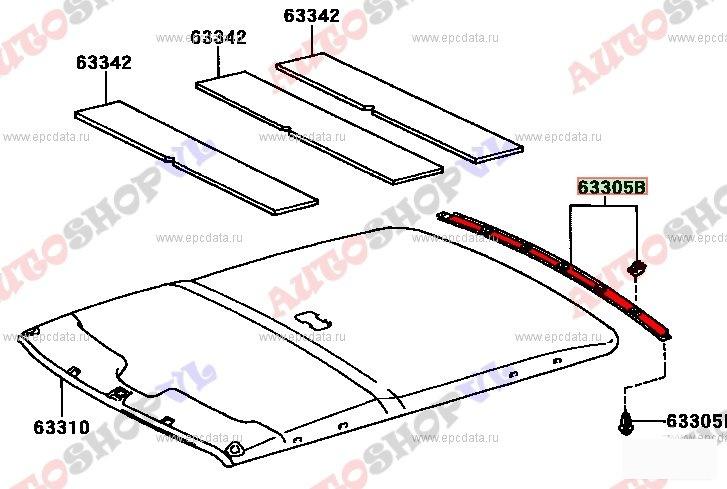 Пластик салона Toyota Sprinter AE101 4AGE (б/у)