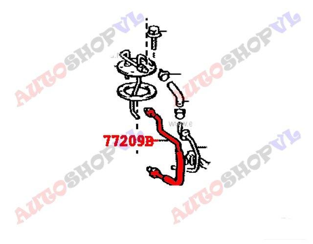Шланг топливный Toyota Sprinter Carib AE111 4AGE (б/у)