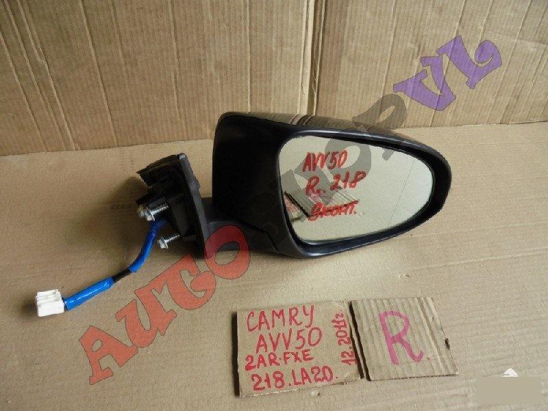 Зеркало Toyota Camry AVV50 2ARFXE 12.2011г. переднее правое (б/у)