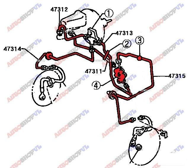 Распределитель тормозной Toyota Sprinter Marino AE101 (б/у)