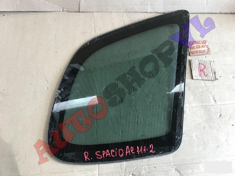 Стекло собачника Toyota Corolla Spacio AE111 4AFE 06.1999г. заднее правое (б/у)