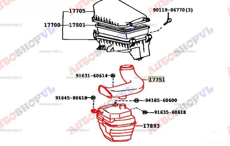 Воздуховод Toyota Corolla Ceres AE101 4AGE (б/у)