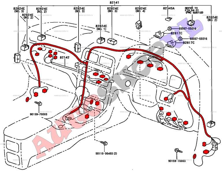 Проводка под торпеду Toyota Mark Ii Qualis SXV20 5SFE 03.2000 (б/у)