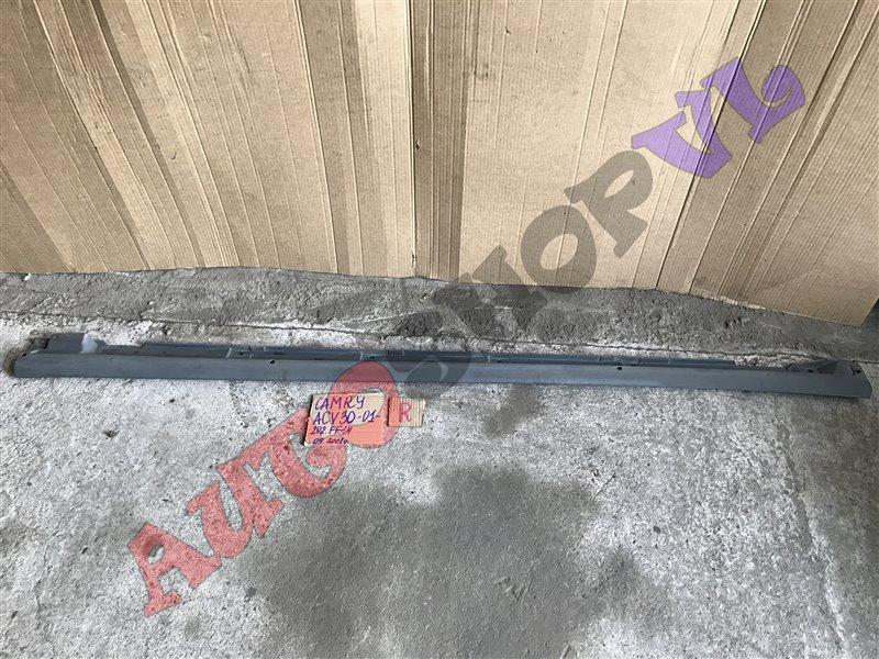 Молдинг порога Toyota Camry ACV30 2AZFE 09.2001 правый (б/у)