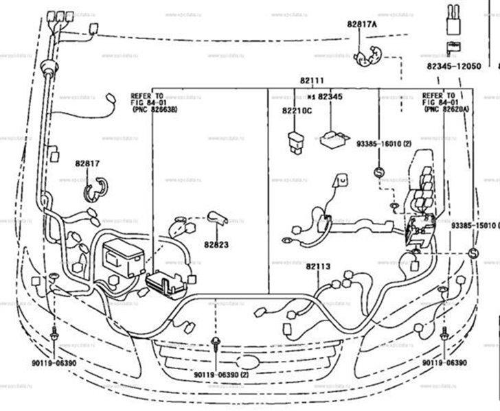 Коса телевизора Toyota Mark Ii Qualis SXV25 5SFE 10.2000 (б/у)