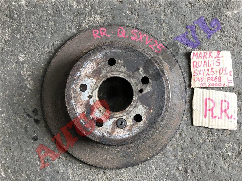 Тормозной диск Toyota Mark Ii Qualis SXV25 5SFE 10.2000 задний правый (б/у)