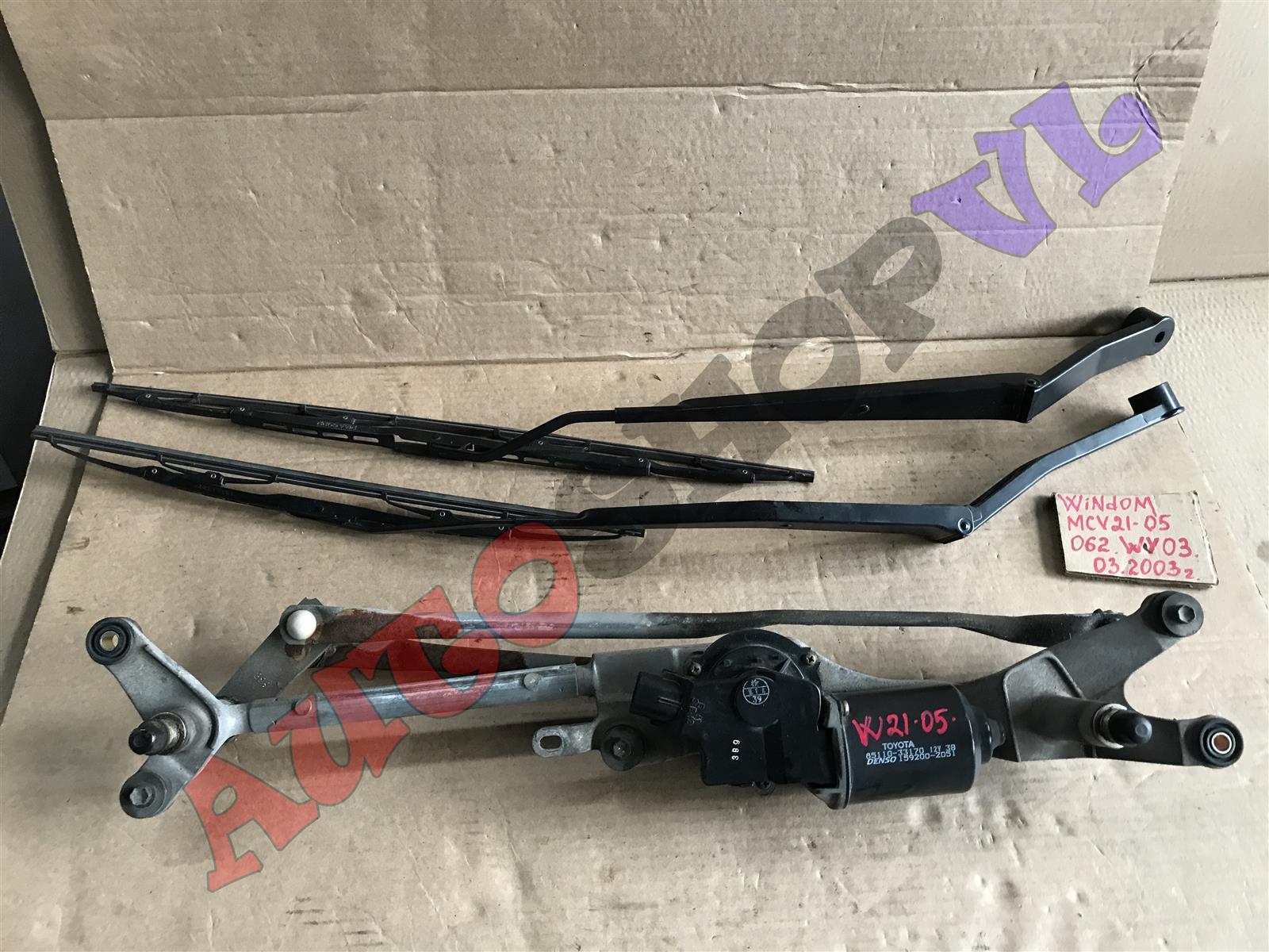 Мотор дворников Toyota Windom MCV21 2MZFE 03.2000 передний (б/у)