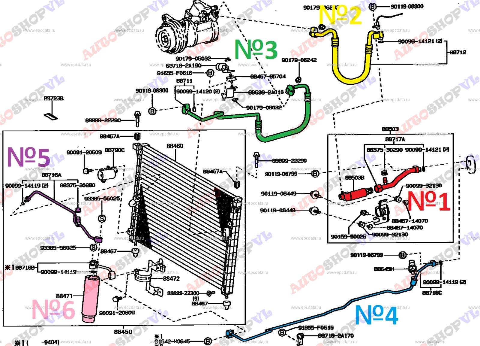 Осушитель системы кондиционирования Toyota Cresta JZX90 1JZGE 03.1995 (б/у)