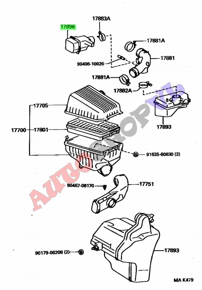 Влагоотделитель Toyota Camry SV40 4SFE 05.1996 (б/у)