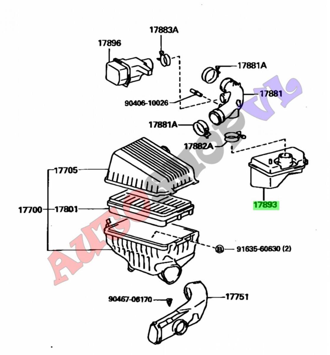 Влагоотделитель Toyota Camry SV40 4SFE 06.1994 (б/у)
