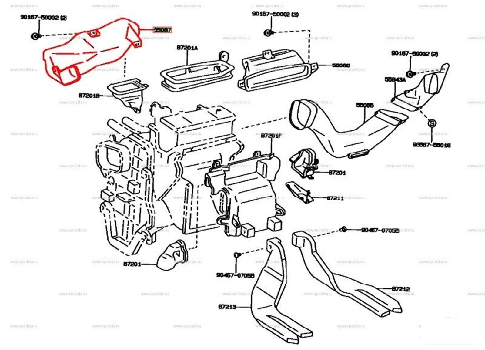 Воздуховод Toyota Windom VCV11 (б/у)