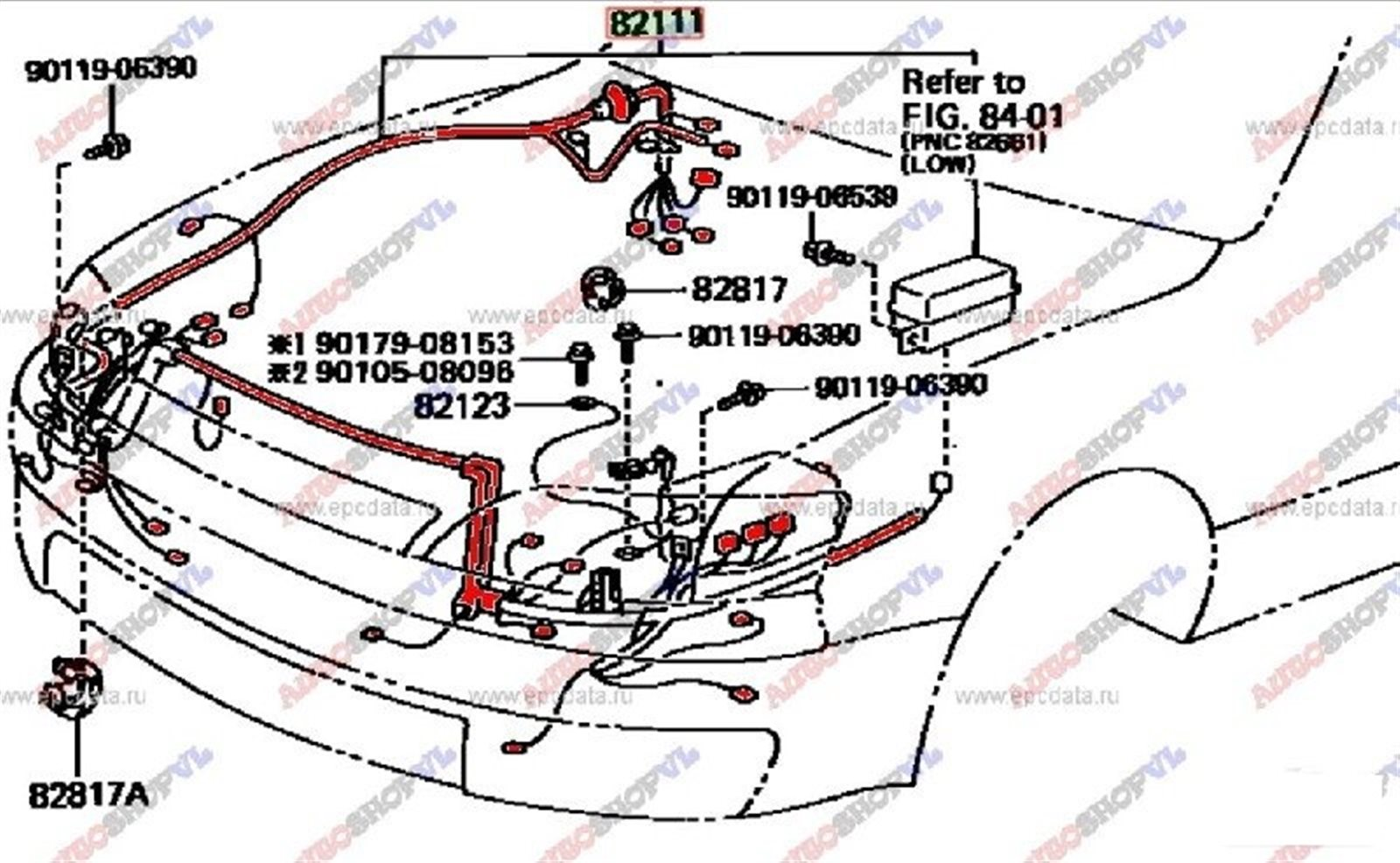 Коса телевизора Toyota Windom VCV11 1994 (б/у)