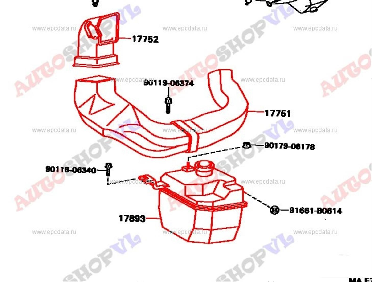 Воздуховод Toyota Sprinter Trueno AE101 4AGE (б/у)