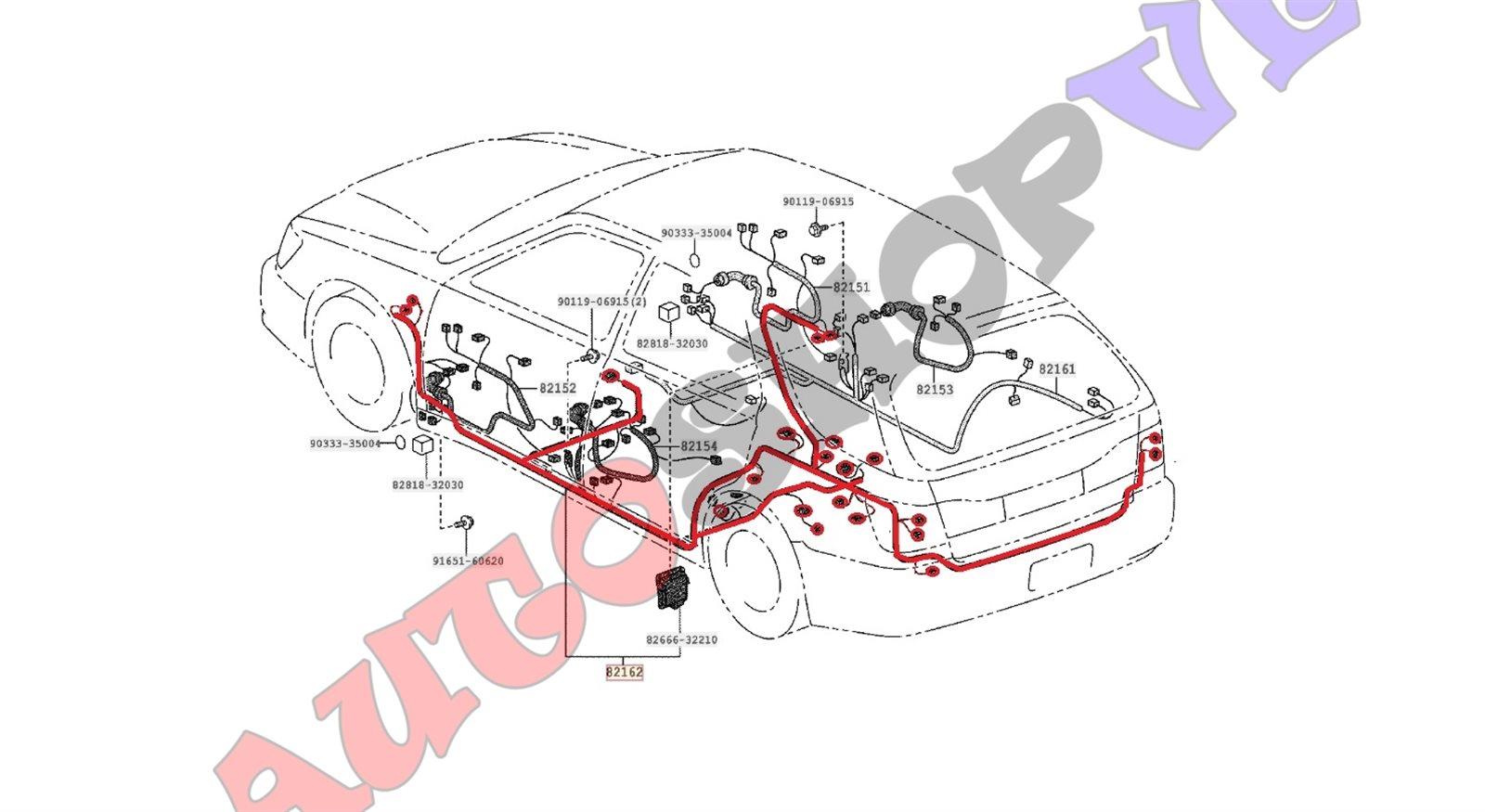 Электропроводка салона Toyota Vista Ardeo ZZV50 1ZZFE 06.1998 левая (б/у)