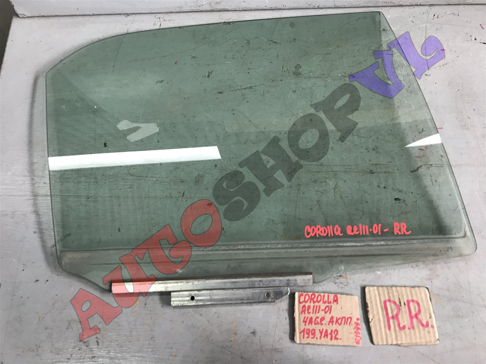 Стекло двери Toyota Corolla AE111 4AGE заднее правое (б/у)