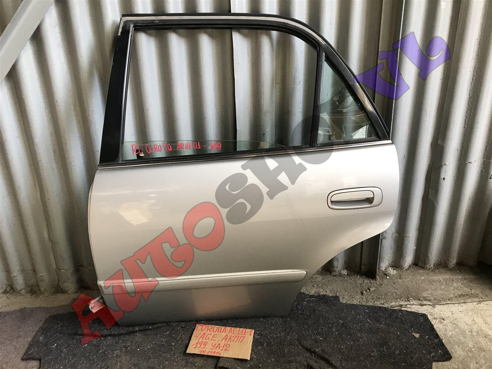 Дверь Toyota Corolla AE111 4AGE задняя левая (б/у)