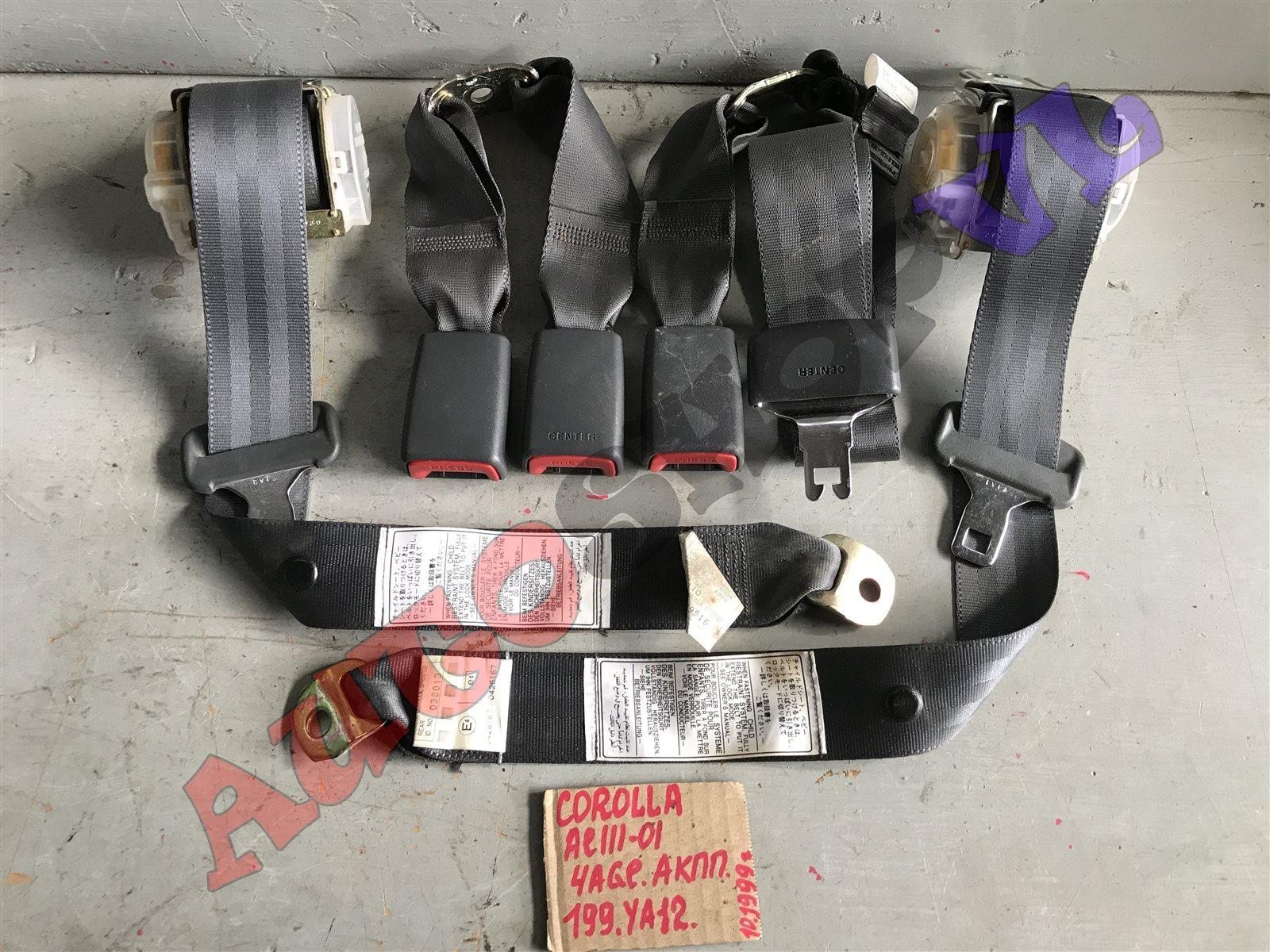 Ремень безопасности Toyota Corolla AE111 4AGE задний (б/у)