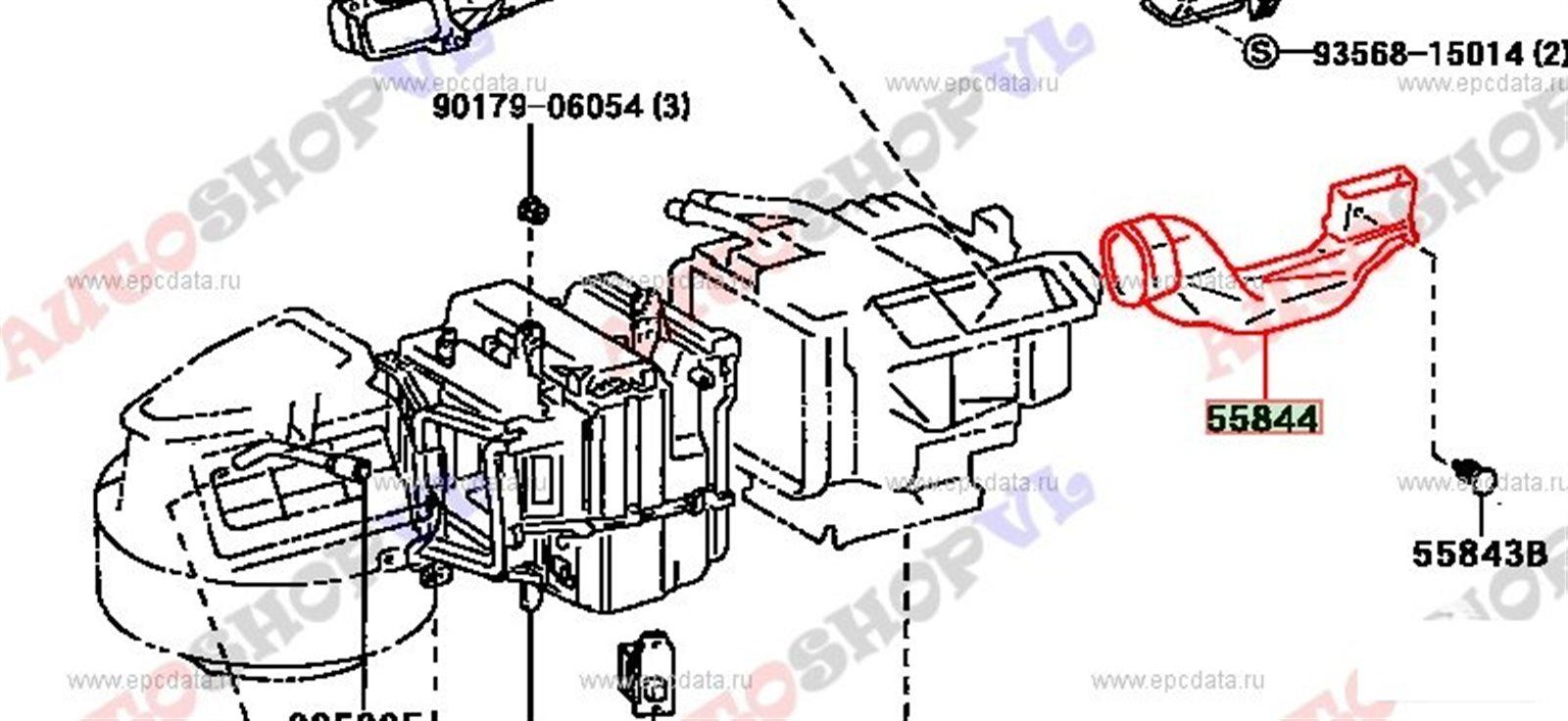 Воздуховод Toyota Corolla AE111 4AGE (б/у)