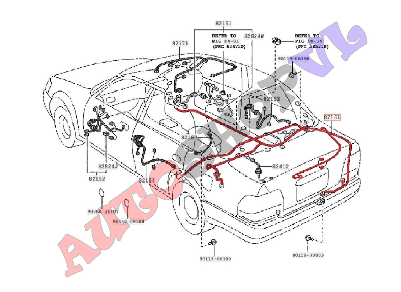 Электропроводка салона Toyota Corolla AE111 4AGE (б/у)