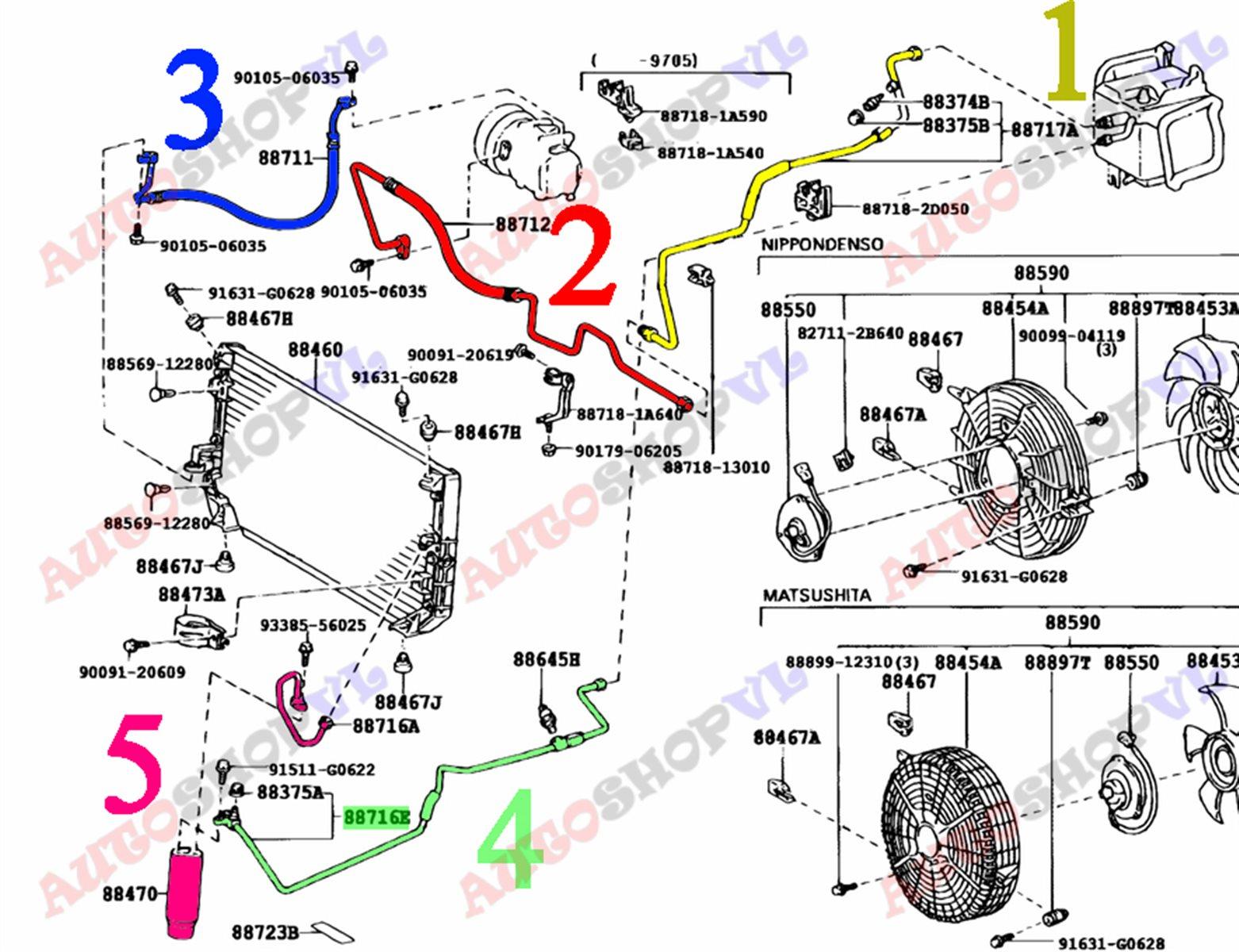 Осушитель системы кондиционирования Toyota Corolla Levin AE111 4AGE (б/у)