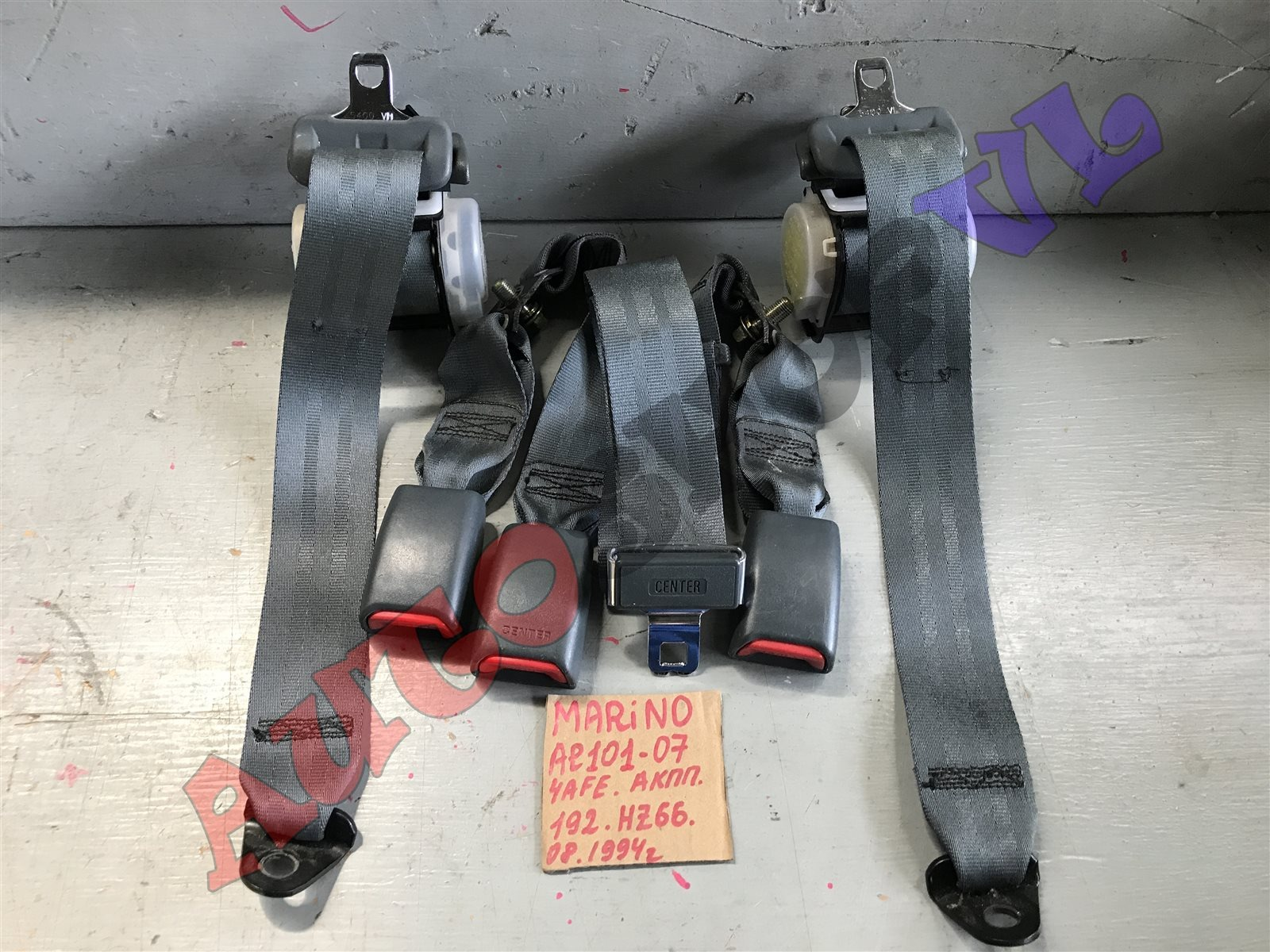 Ремень безопасности Toyota Sprinter Marino AE101 задний (б/у)