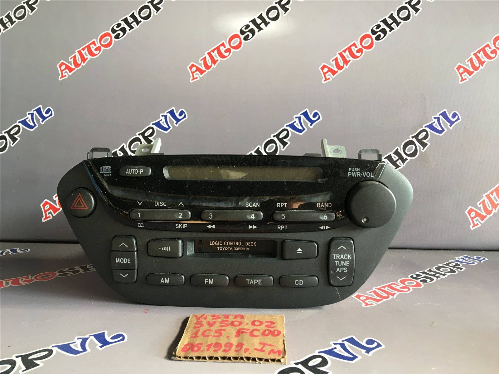 Магнитофон Toyota Vista SV50 06.1998 (б/у)