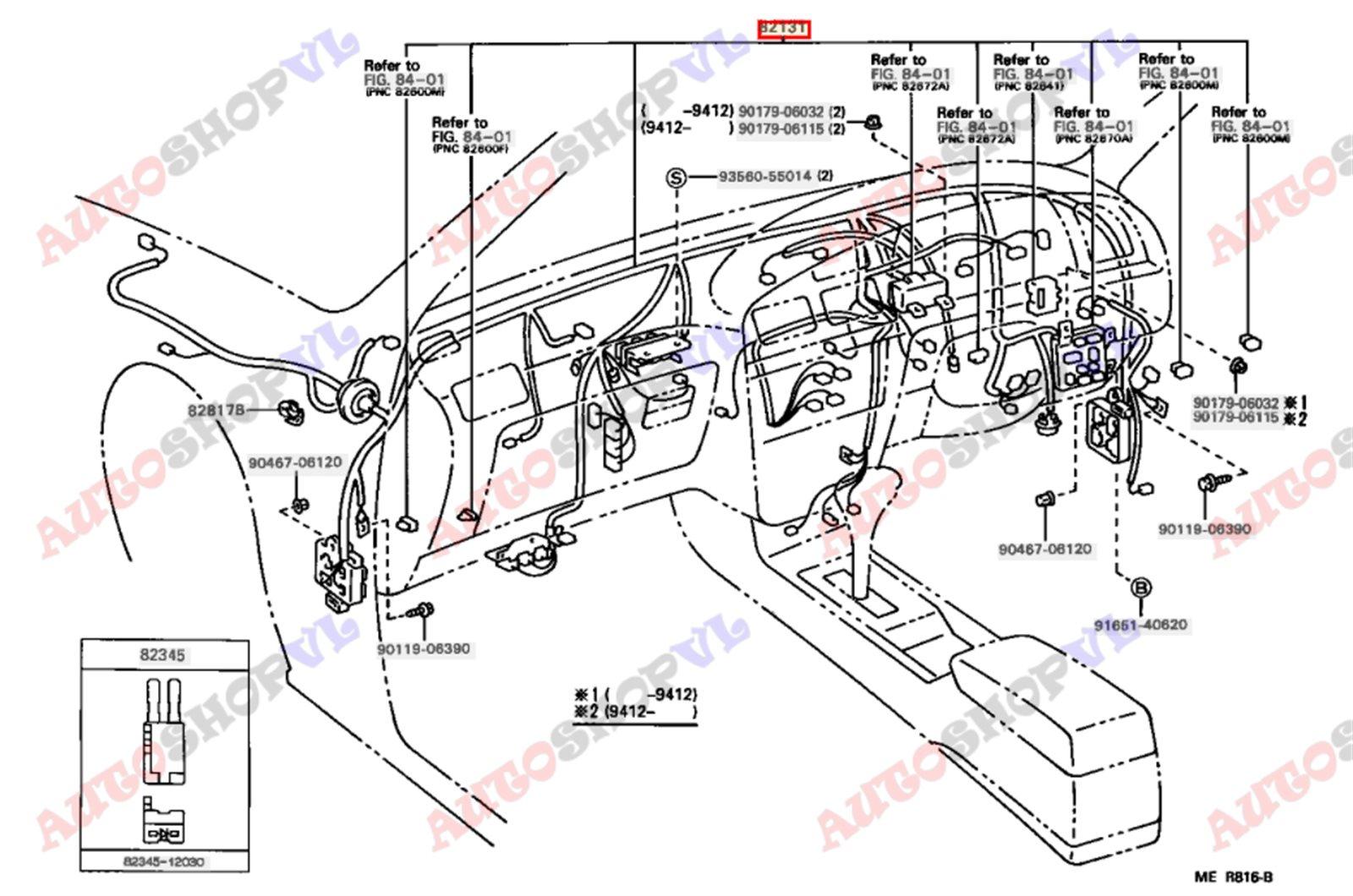 Электропроводка салона Toyota Scepter SXV15W 08.1995 (б/у)