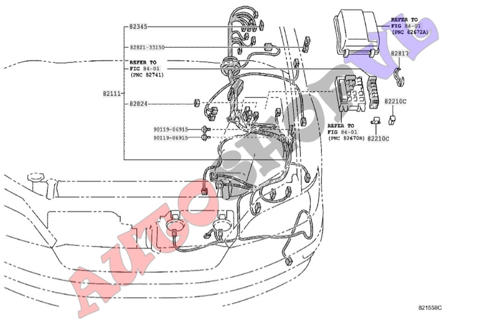 Коса телевизора Toyota Vista SV55 3SFE 04.2000 (б/у)