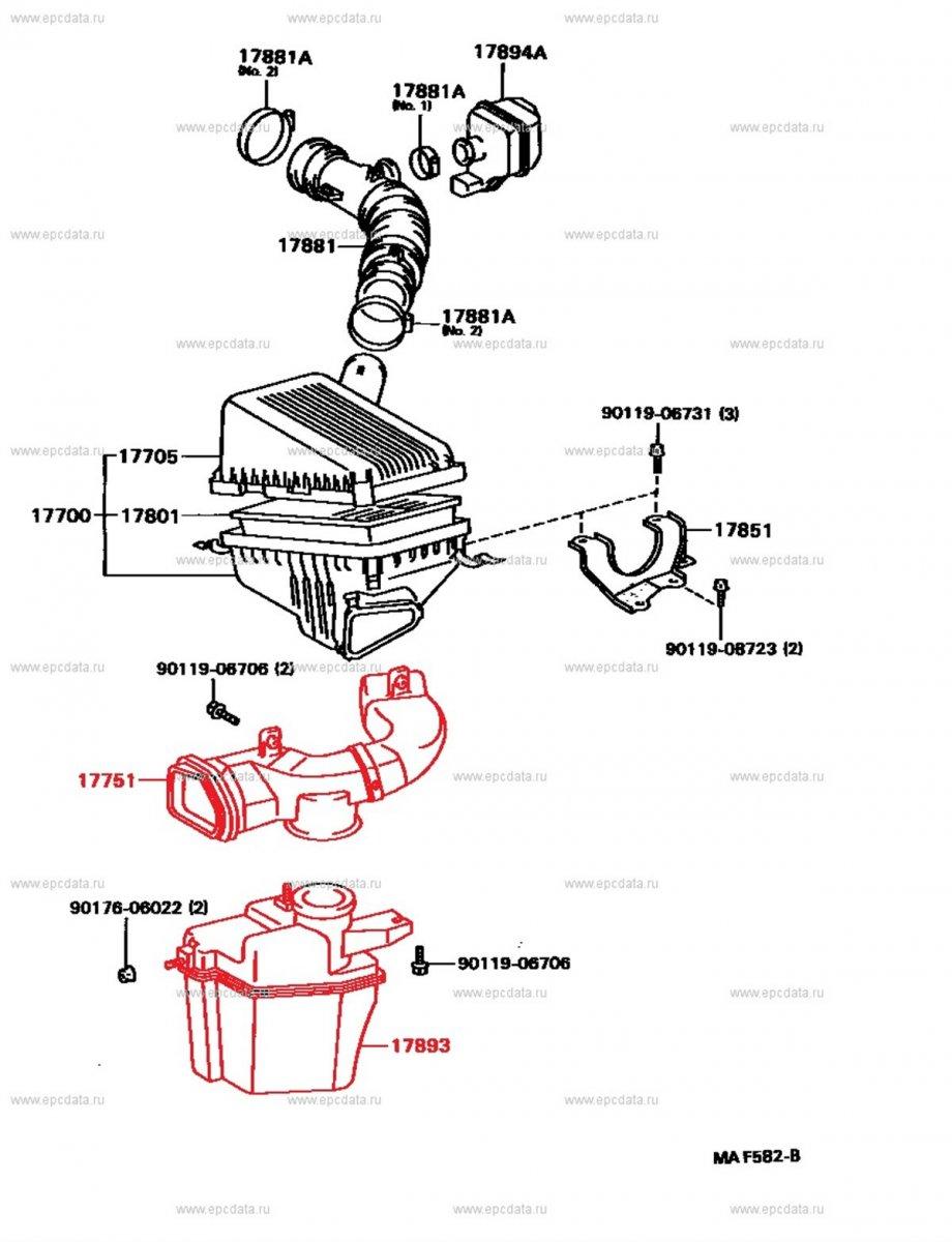 Воздуховод Toyota Carina AT191 7AFE (б/у)