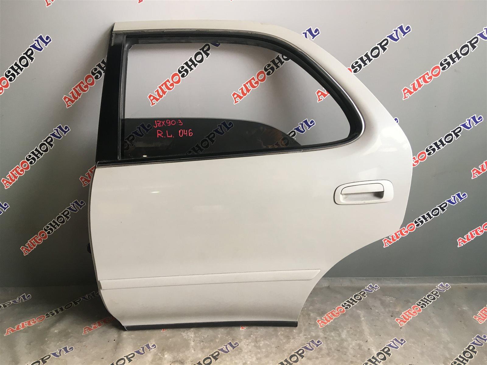 Дверь Toyota Cresta JZX90 1JZGE задняя левая (б/у)