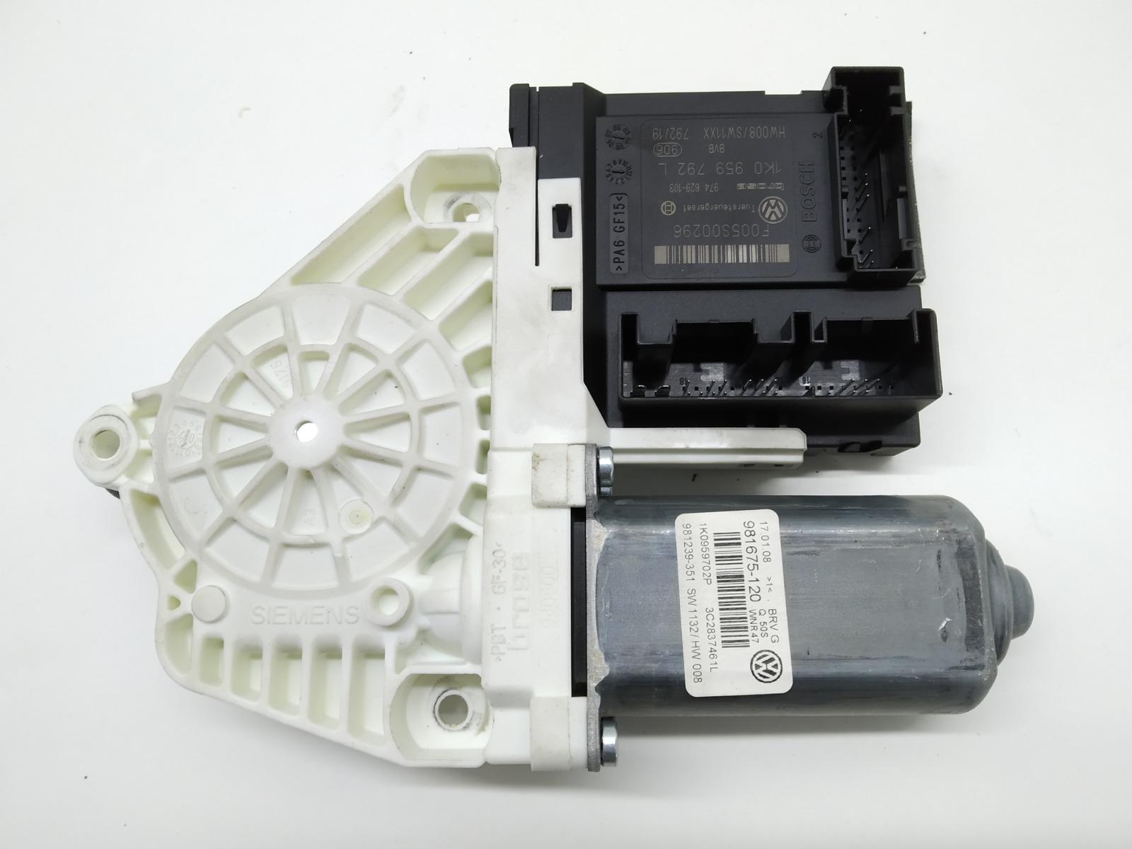 Моторчик стеклоподъемника передний левый Volkswagen Passat B6 2.0 TDI 2008 (б/у)